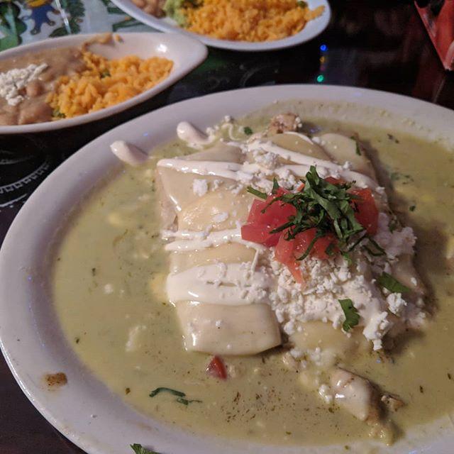 Enchiladas Suizas! Los Gallos Mexican Taqueria